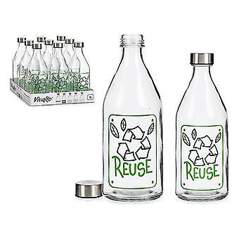 Butelka ponownego użycia Stal szklana 1000 ml