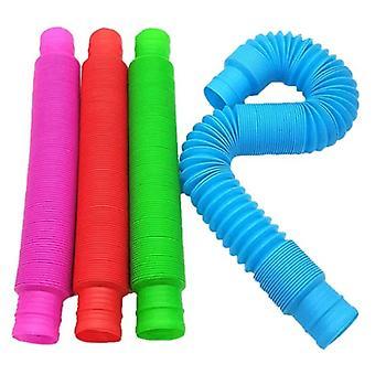 Stuff Certified® 100-Pack Pop It Tube Nuudeli String - Joustava Fidget Anti Stressi Lelut Kupla Lelu Silikoni Nuudelit Satunnainen Väri