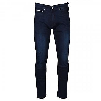 Replay Grover Straight Fit Blue Washed Denim Jeans MA972O 41A 781 007