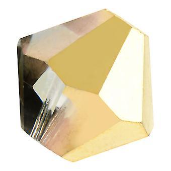 Preciosa التشيكية كريستال، بيكون حبة 10mm، 12 قطعة، كريستال أوروم Halfcoat