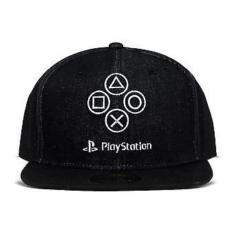 Playstation Denim Symbolen Snapback Baseball Cap