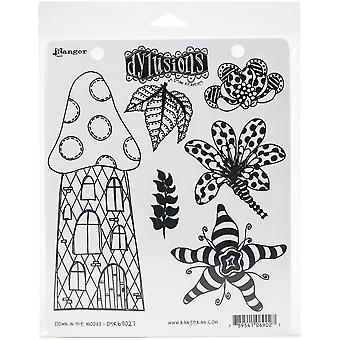 """Dyan Reaveley's Dylusions Cling Stamp Collections 8.5""""X7"""" - Down In The Woods"""