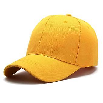 Módní jednobarevná jednoduchá univerzální baseballová čepice