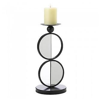 Gallery of Light Half-Circle Mirrored Candle Holder - Double, Pack of 1