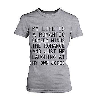 Mitt liv är en romantisk komedi rolig Graphic Tee - grå bomull T-Shirt