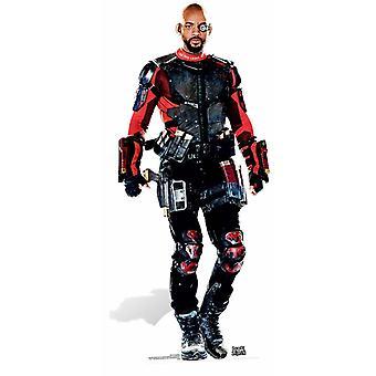 Deadshot (Will Smith) itsemurha Squad elokuvan pahvi automaattikatkaisin / seisoja / Stand Up