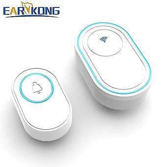 Door bells chimes wifi doorbell alarm system intelligent wireless doorbell strobe tuyasmart app white