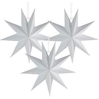 Étoile de papier à 9 branches 3D Décorations d'étoile suspendues Ornements de Noël de mariage