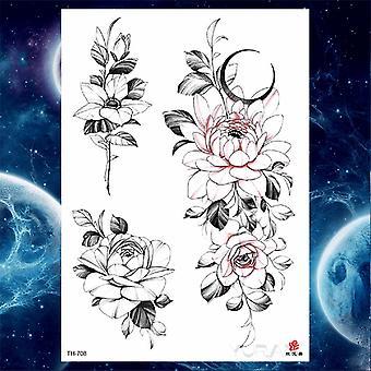 Filles Bracelet Chaînes Rose Tatouage Autocollants Papillon Corps Bras Totem Tatouages Femmes Temporaires Poignet Sexy Noir Faux Tatoos