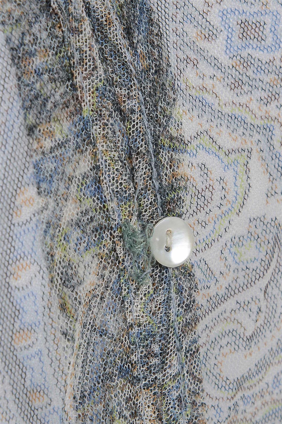 M & S Chiffon Waist Tie Short Sleeve Blouse TP217-12
