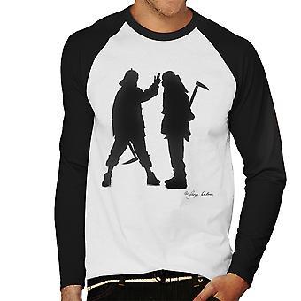 Mobb Deep siluetti miesten Baseball pitkähihainen t-paita