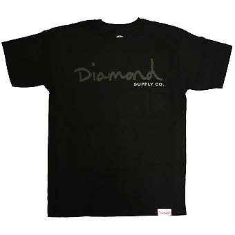 Diamond Supply Co Tonal OG Script T-Shirt Black