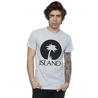Island Records Men's Black Logo T-Shirt
