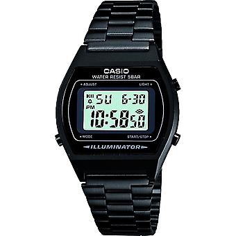 Casio Unisex quadrante grigio digitale Display orologio con bracciale in acciaio nero - nero