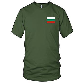 Drapeau National du pays bulgare de Bulgarie - Logo - brodé 100 % coton T-Shirt Ladies T Shirt