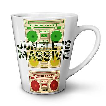 Jungle Cannabis 42 nya vita te kaffe keramiska Lattemugg 12 oz | Wellcoda