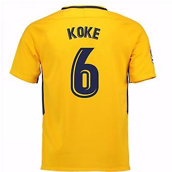 2017-18 camisa longe do Atlético de Madrid (Koke 6) - crianças