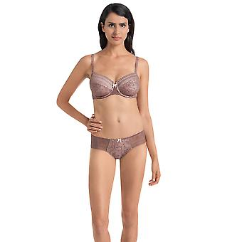 Rosa Faia 5653-769 Women's Fleur Berry Pink Floral Lace Underwired Support Full Cup Bra