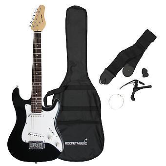 Rakete 3/4 Größe e-Gitarre in schwarz