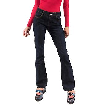 Denim Bootcut Flared Jeans - Mid Rise