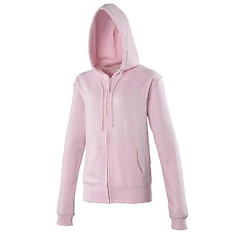 Awdis Womens Girlie Zoodie Full Zip Fitted Hoodie