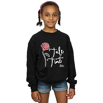 Disney Girls Tale As Old As Time Rose Sweatshirt