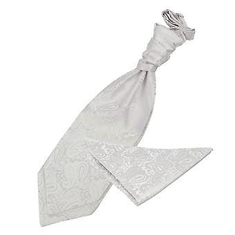 Elfenbein Paisley Hochzeit Cravat & Einstecktuch Satz