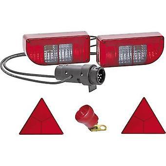 SecoRüt Trailer lighting set 7/13-pin Turn signal, Tail light, Brake light, Rear fog lamp, Number plate light, Reflector rear 12 V Clear glass
