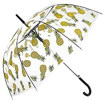 Straight Clear Umbrella (Yellow Pineapple)