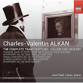 Mozart / Lopez, Jose Raul - Charles-Valentin Alkan: Complete Transcriptions 1 [CD] USA import