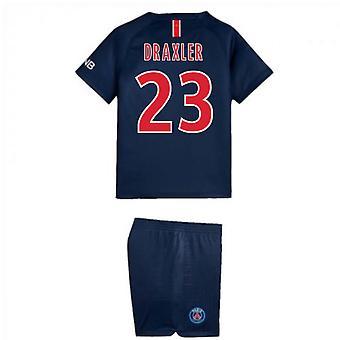 2018-2019 PSG Home Nike kleine jongens Mini Kit (Draxler 23)