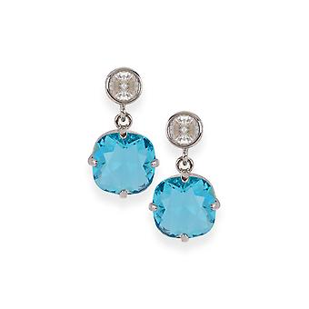 Blue earrings with crystals from Swarovski 4611
