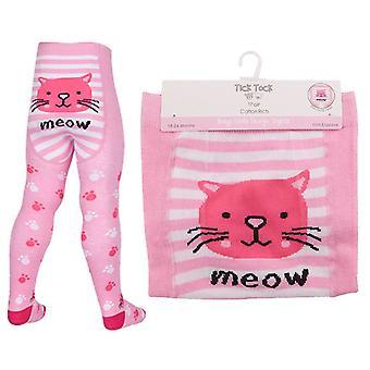 Baby Girls Tick Tock Novalty Cat Panda Owl Print Tights 45B112