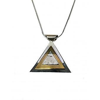 Cavendish Ranskan hopea kultainen pyramidi riipus ilman ketjua