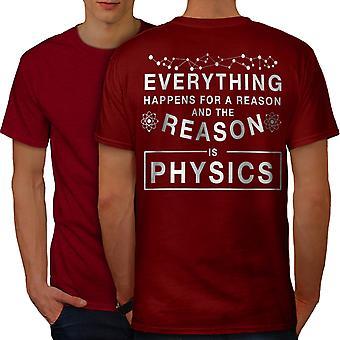 Physics Law Funy Men RedT-shirt Back | Wellcoda