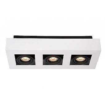 Lucide Xirax rectángulo moderno aluminio blanco y negro luz de Spot de techo