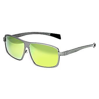 Breed Finlay Titanium Polarized Sunglasses - Silver/Yellow