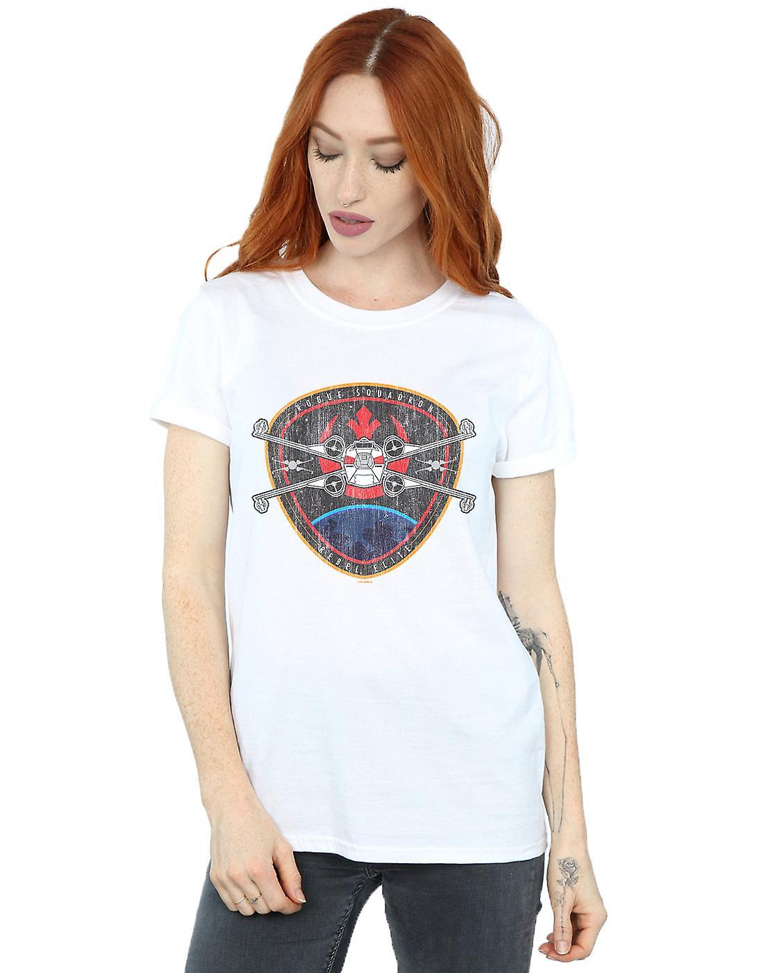 Star Wars Women's Rebel Elite Badge Boyfriend Fit T-Shirt