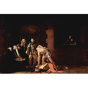 The Beheanding of TST John the Baptist, Caravaggio, 60x40cm