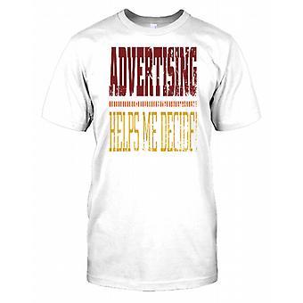 Reklam hjälper mig bestämma - roliga barn T Shirt