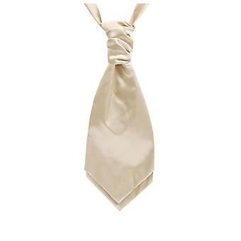 Dobell gutter lys gull Satin Cravat Party bryllup Fancy kjole tilbehør
