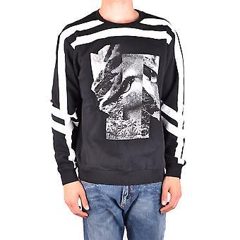 Les Hommes Urban Ezbc260002 Men's Black Cotton Sweater