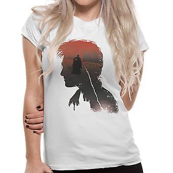 Harry Potter Womens/Ladies Battle Silhouette T-Shirt