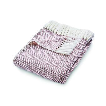 Umarmungswut umkehrbar gewebten Herringknochen-Werfen in Pink