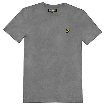 Lyle ja Scott lyhythihainen Crew Neck T-paita, Mid-Grey Marl