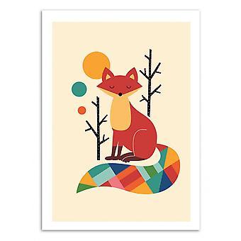 Art-Poster - Rainbow Fox - Andy Westface
