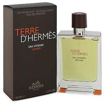 Terre D'hermes Eau intense Vetiver door Hermes Eau de parfum spray 3,3 oz (mannen) V728-542988