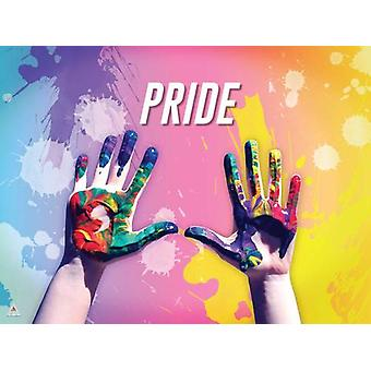 Lgbtq Poster Pride Hands Colors Wall Art Print (24x18)