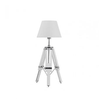 Premier Home Feature Lamp, Chrome, Blanc