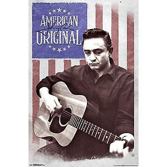 Poster - Studio B - Johnny Cash - Flag 23